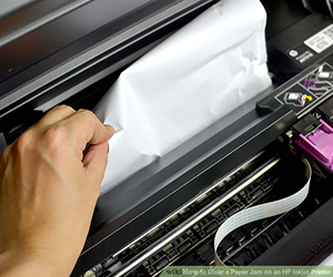 how to remove paper jam from hp deskjet printer