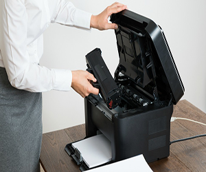 how to remove hp printer ink