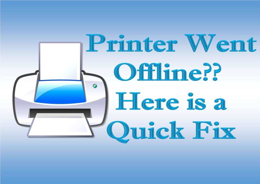 How to fix printer offline in Windows 10 or in Windows 8