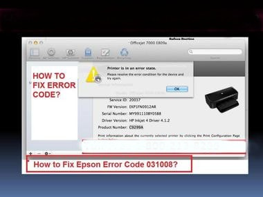 How to quickly resolve and fix Epson Error Code 031008