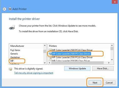 Find driver for my printer