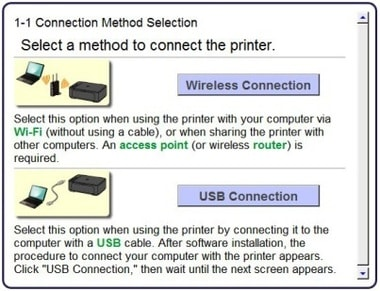 how to connect canon printer to a computer