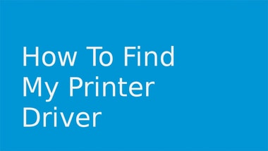 find my printer driver