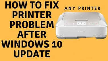 fix hp printer problems windows 10