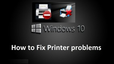 fix printer problems in windows 10