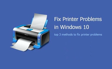 fix printer problems windows 10