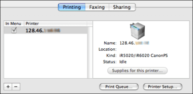 how to add canon printer to mac