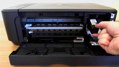 how to change ink in canon printer