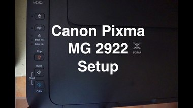 how to connect canon pixma mg2922 printer to wifi