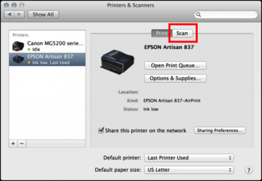 how to scan on Epson printer