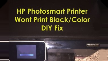 hp photosmart 6515 prints blank pages
