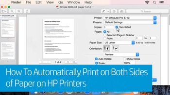 how to hp photosmart d110 duplex printing
