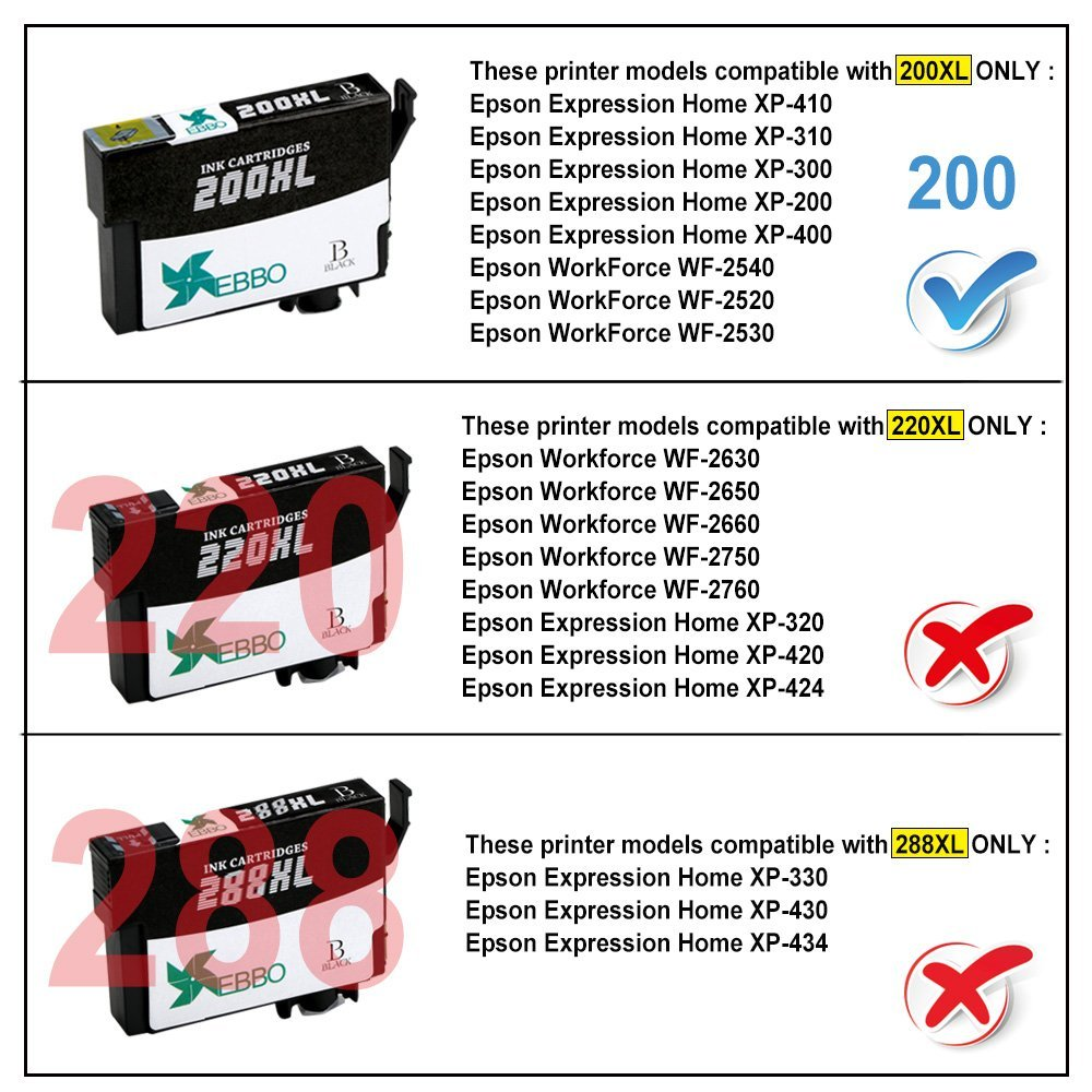 what epson printers use 200 ink