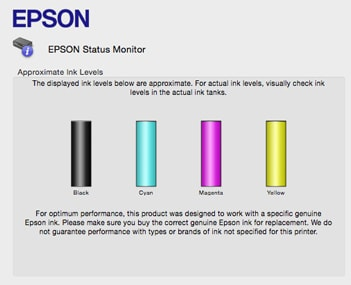 how to check printer ink levels epson