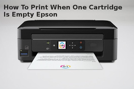 how to print when one cartridge is empty epson