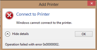 printer connection problems
