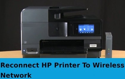 reconnect hp printer to wireless network