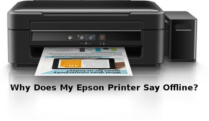 why does my epson printer say offline