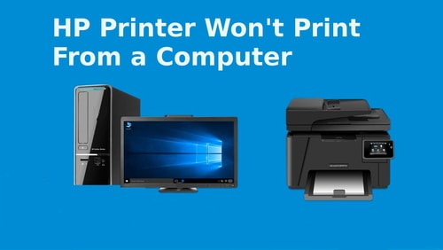 hp printer won't print from a computer