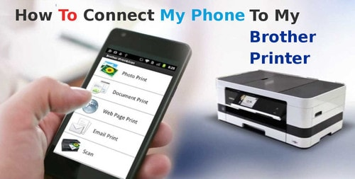 how to connect my phone to my brother printer