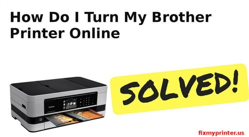 how do i turn my brother printer online