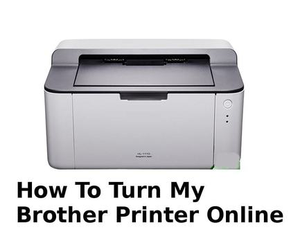how to turn my brother printer back online