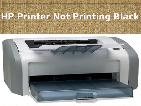 hp printer not printing black