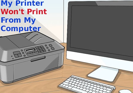 my printer won't print from computer