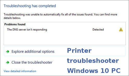 printer troubleshooter windows 10 pc