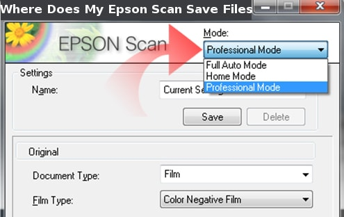 where does my epson scan save files