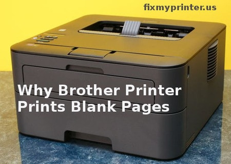 why brother printer prints blank pages