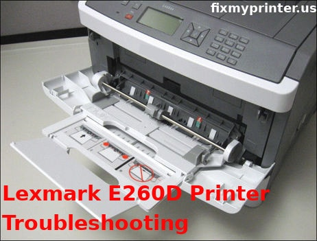 lexmark e260d printer troubleshooting