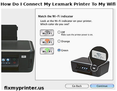 how do i connect my lexmark printer to my wifi