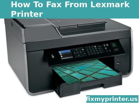 how to fax from lexmark printer