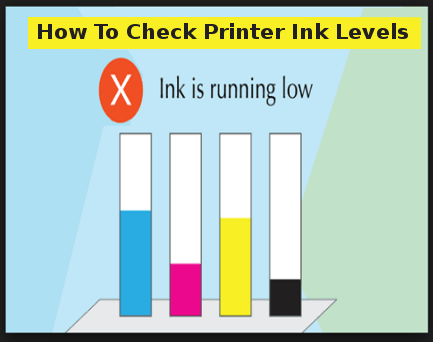 how to check printer ink
