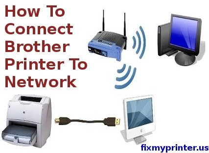 how to connect brother printer to network