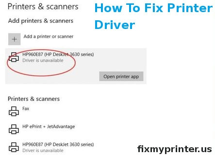how to fix printer driver