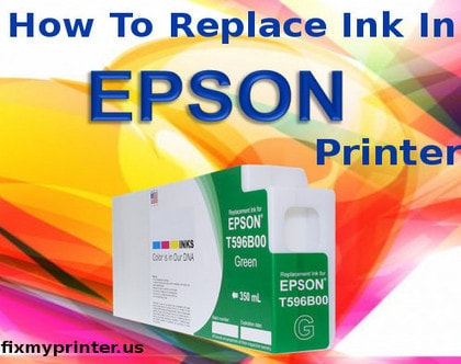 how to replace ink in Epson printer