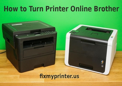 how to turn printer online brother