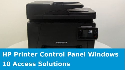 hp printer control panel windows 10