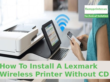 how to install a lexmark wireless printer without cd