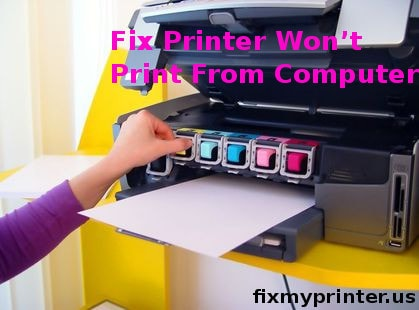 printer won't print from computer