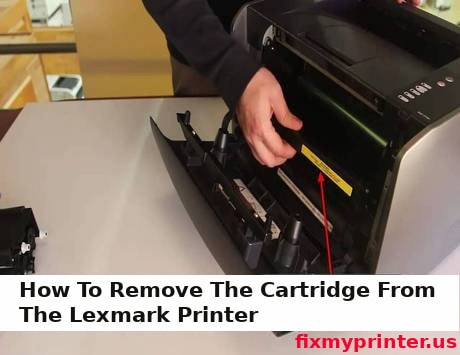 how to remove the cartridge from the lexmark printer