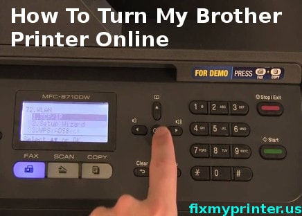 how to turn my brother printer online