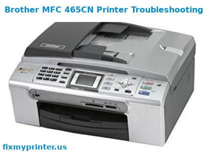 brother mfc 465cn printer troubleshooting