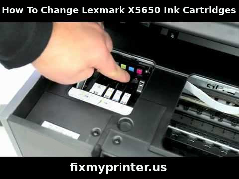 how to change lexmark x5650 ink cartridges