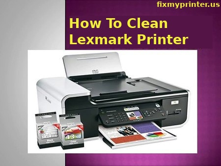 how to clean lexmark printer