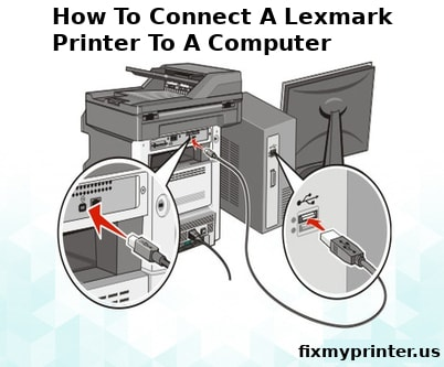 how to connect a lexmark printer to a computer