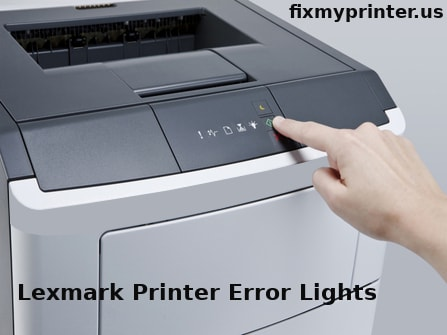 lexmark printer error lights