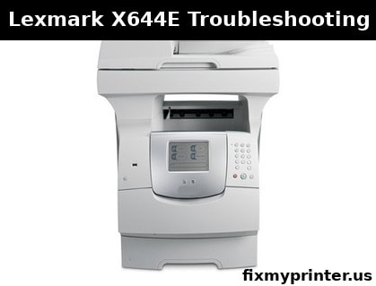 lexmark x644e troubleshooting